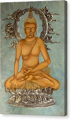 Buddha Canvas Print by Mary jane Miller