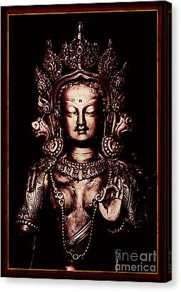 Buddhist Tara Deity Canvas Print by Tim Gainey