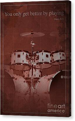 Buddy Rich Quote Canvas Print by Pablo Franchi