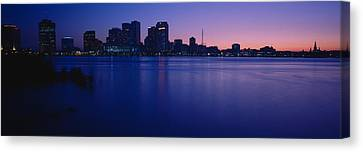 Buildings At The Waterfront, New Canvas Print by Panoramic Images