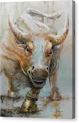 Bull Market W Redo Canvas Print by John Henne