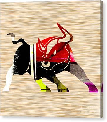 Bull Canvas Print by Marvin Blaine