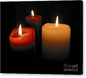 Burning Candles Canvas Print by Elena Elisseeva