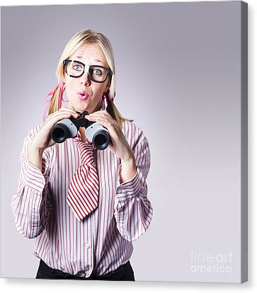 Businesswoman Planning Future Business Strategy Canvas Print by Jorgo Photography - Wall Art Gallery
