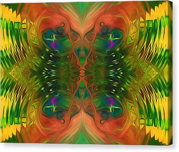 Butterfly Matrix Canvas Print by Georgiana Romanovna
