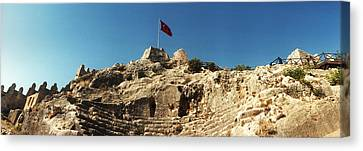 Byzantine Castle Of Kalekoy Canvas Print by Panoramic Images
