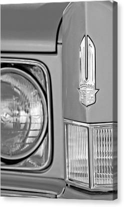 Cadillac Headlight Emblem Canvas Print by Jill Reger