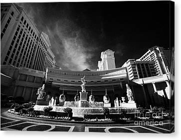 caesars palace luxury hotel and casino Las Vegas Nevada USA Canvas Print by Joe Fox