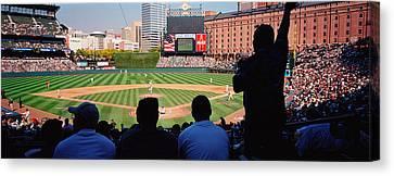 Camden Yards Baseball Game Baltimore Canvas Print by Panoramic Images