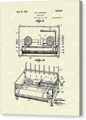 Camp Stove 1926 Patent Art Canvas Print by Prior Art Design