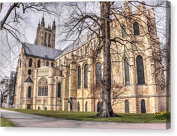 Canterbury Cathedral Canvas Print by Ian Hufton