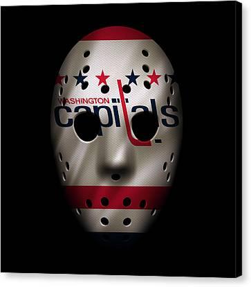 Capitals Jersey Mask Canvas Print by Joe Hamilton