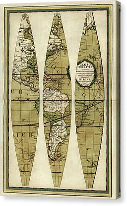Captain Cook's Voyages Canvas Print by Library Of Congress, Geography And Map Division