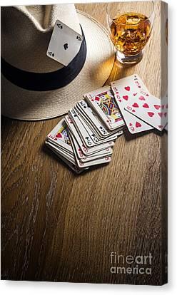 Card Gambling Canvas Print by Carlos Caetano