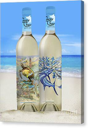 Carey Chen Fine Art Wines Canvas Print by Carey Chen