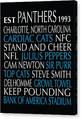 Carolina Panthers Canvas Print by Jaime Friedman