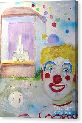 Carrie The Clown Canvas Print by Sandy McIntire