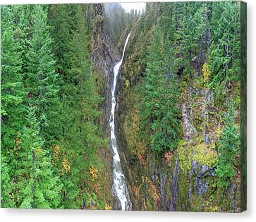 Cascades Waterfall Canvas Print by Tom Norring