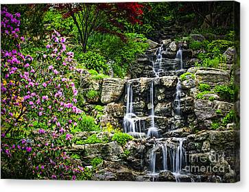 Cascading Waterfall Canvas Print by Elena Elisseeva