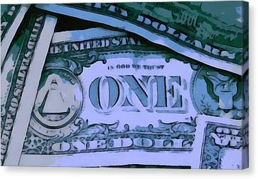 Cash Canvas Print by Dan Sproul