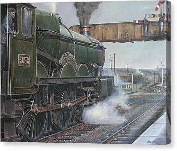 Castle Class 4.6.0. Canvas Print by Mike  Jeffries