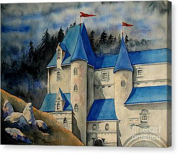 Castle In The Black Forest Canvas Print by Ranjini Kandasamy