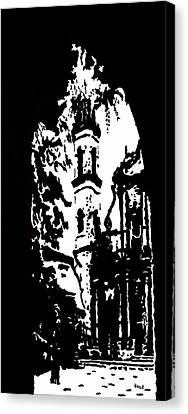 Cathedral In Black And White Canvas Print by Oscar Penalber
