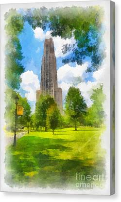 Cathedral Of Learning University Of Pittsburgh Canvas Print by Amy Cicconi
