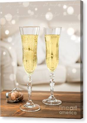 Champagne Celebration Canvas Print by Amanda And Christopher Elwell