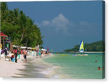 Chaweng Beach And The Gulf Of Thailand Canvas Print by David R. Frazier