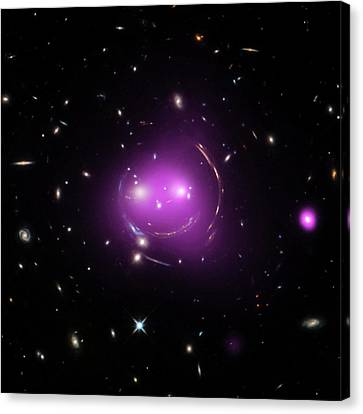 Cheshire Cat Galaxy Group Canvas Print by Nasa/chandra X-ray Observatory Center