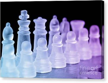 Chess Pieces Canvas Print by Amanda Elwell