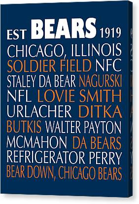Chicago Bears Canvas Print by Jaime Friedman