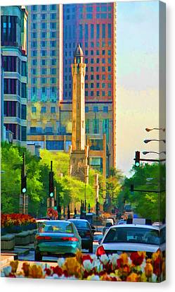 Chicago Water Tower Beacon Canvas Print by Christopher Arndt