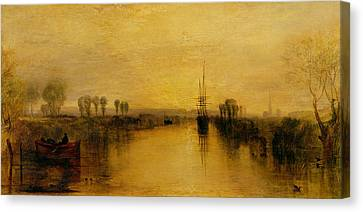 Chichester Canal Canvas Print by Joseph Mallord William Turner