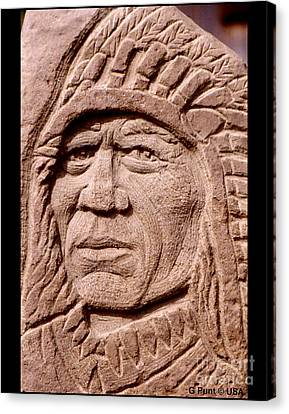 Chief-iron-tail Canvas Print by Gordon Punt