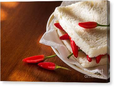 Chili Pepper Sandwich Canvas Print by Carlos Caetano