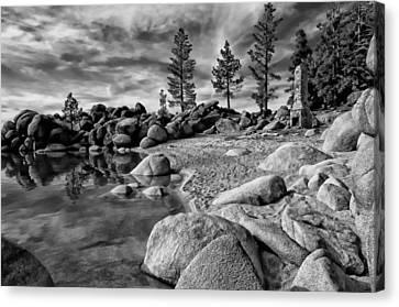 Chimney Beach Lake Tahoe Canvas Print by Scott McGuire