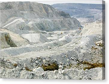 China Clay Workings Near St Austell Canvas Print by Ashley Cooper