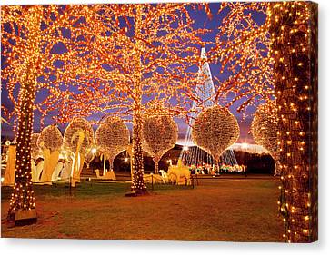 Christmas Decorations And Lights Canvas Print by Brian Jannsen