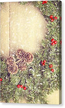 Christmas Garland Canvas Print by Amanda And Christopher Elwell