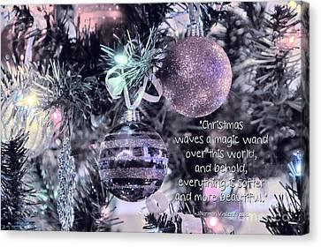 Christmas Magic Canvas Print by Peggy Hughes