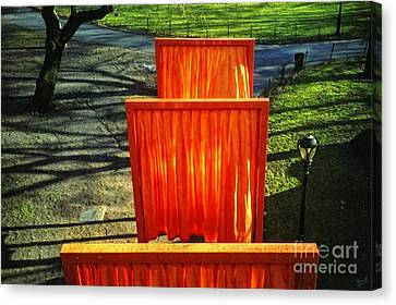 Christo - The Gates - Project For Central Park Canvas Print by Nishanth Gopinathan