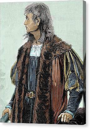 Christopher Columbus (1451-1506 Canvas Print by Prisma Archivo