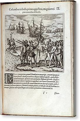 Christopher Columbus Canvas Print by British Library