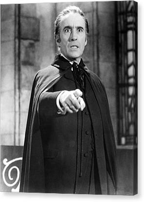 Christopher Lee In Dracula: Prince Of Darkness  Canvas Print by Silver Screen