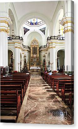 Church Interior In Puerto Vallarta Canvas Print by Elena Elisseeva