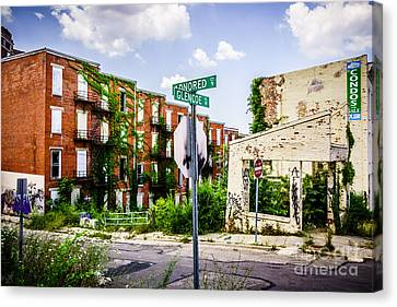 Cincinnati Glencoe-auburn Place Picture Canvas Print by Paul Velgos