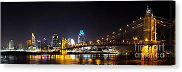 Cincinnati Ohio  Skyline Canvas Print by Twenty Two North Photography