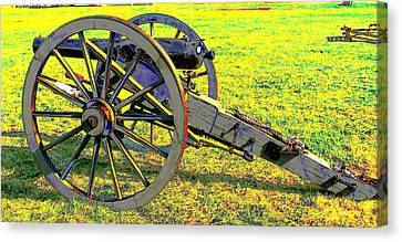 Civil War Canon By Earl's Photography Canvas Print by Earl  Eells a